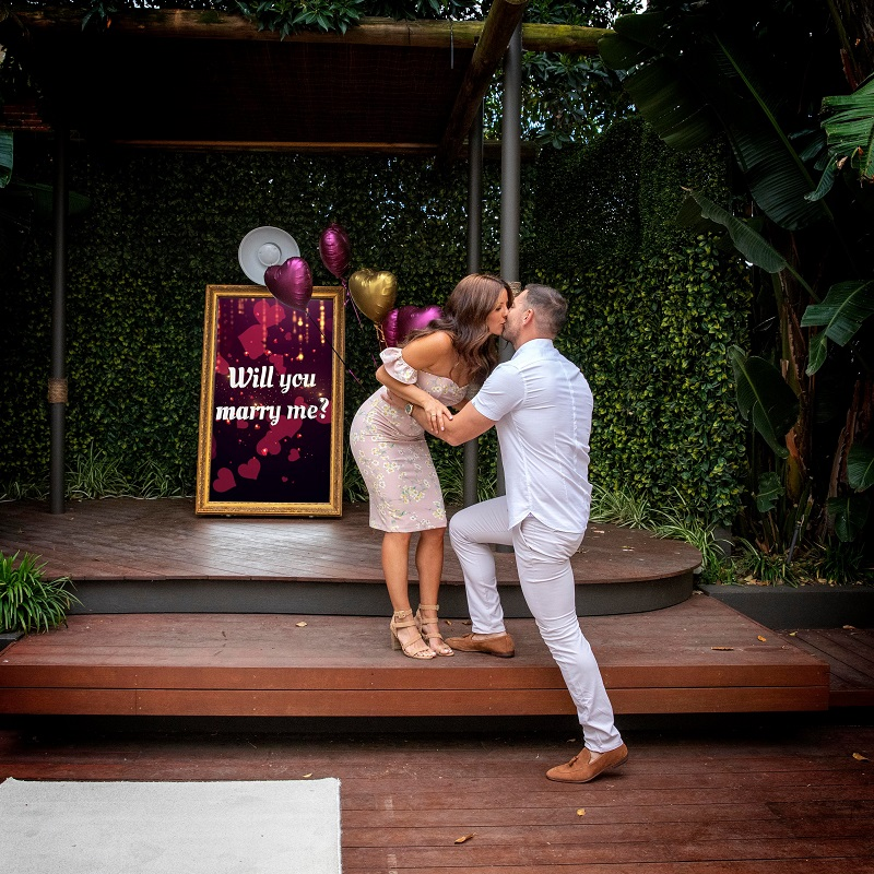 Photo Booth Party Engagement Photoshoot Ideas